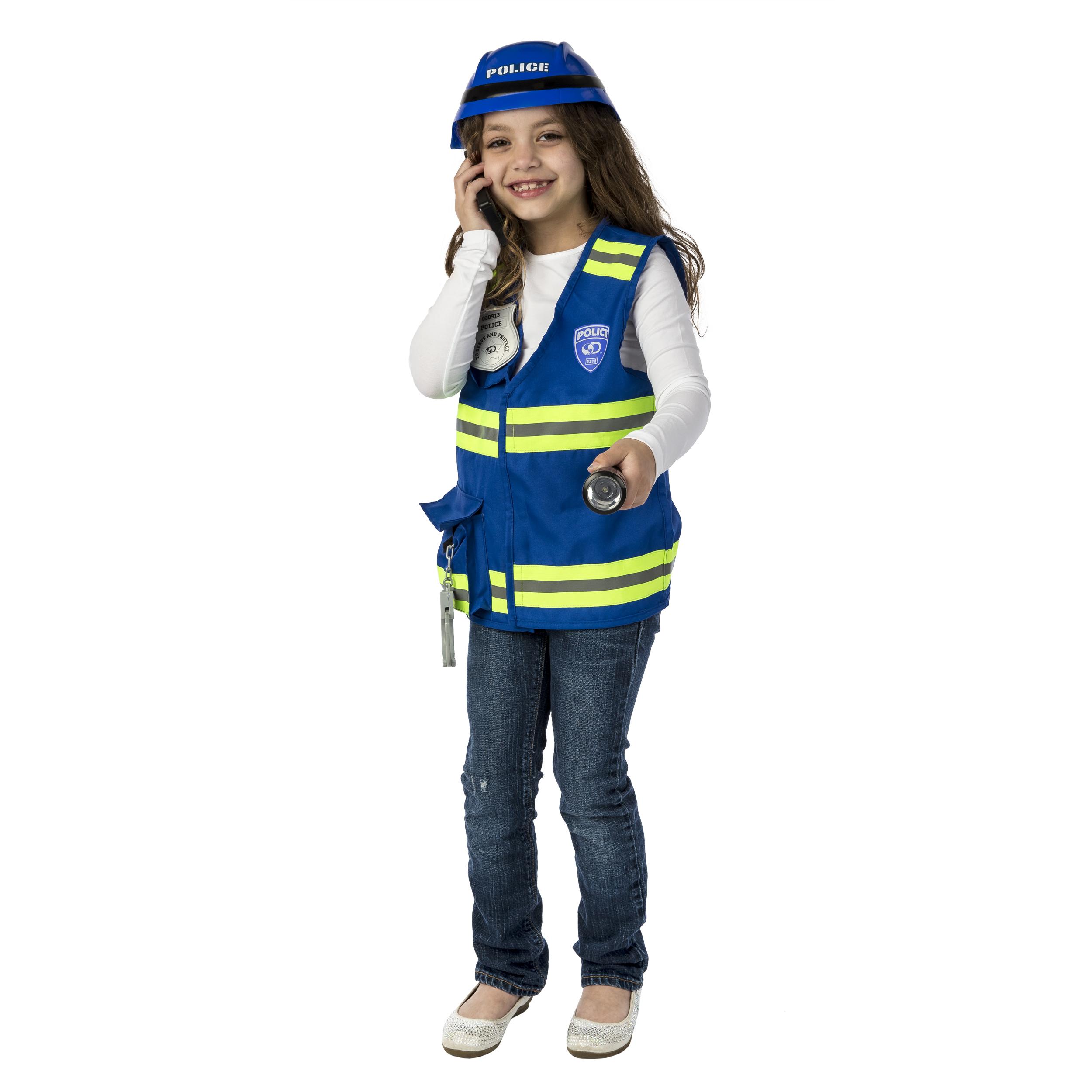 Kids Police Officer Costume Polizist Kinder Kostm Polizei